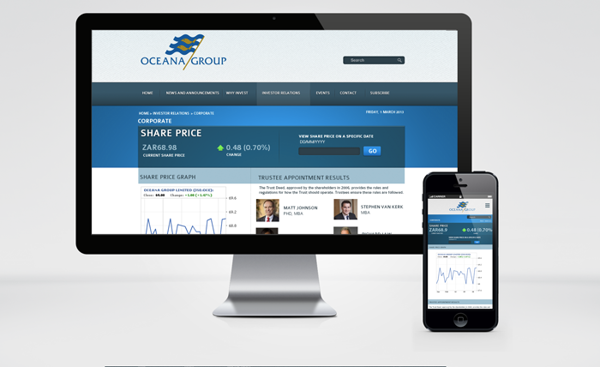 Ocean group website