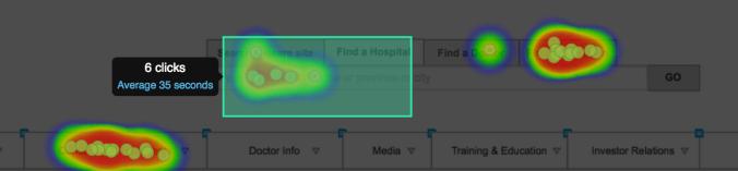 Heatmap and clickmap testing