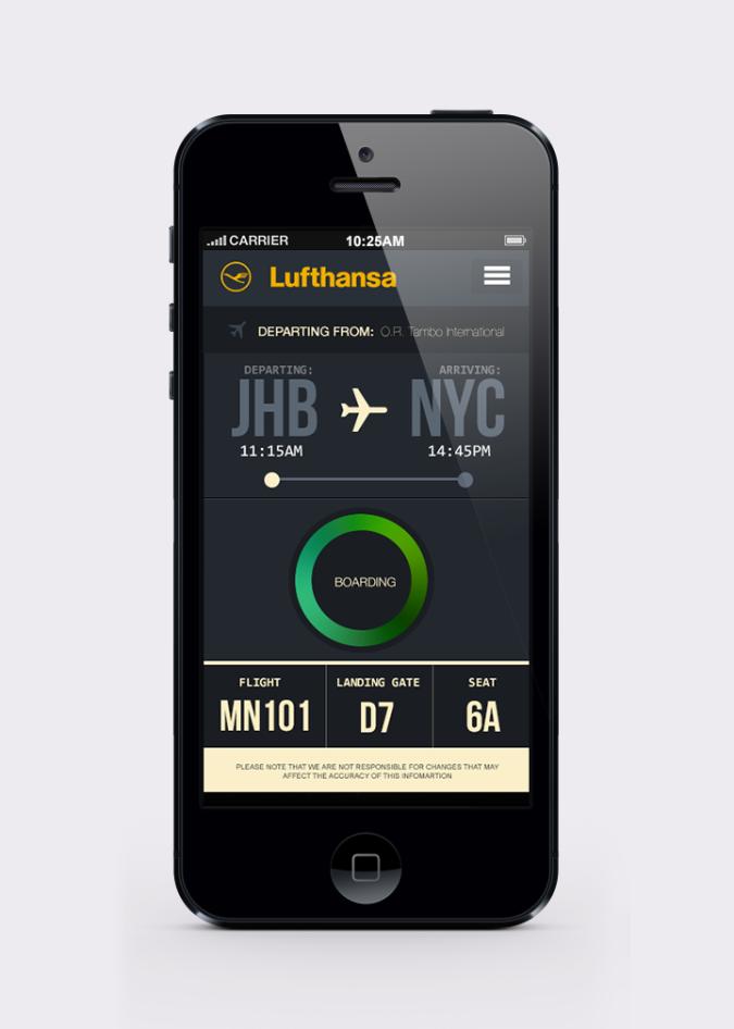Lufthansa mobile app