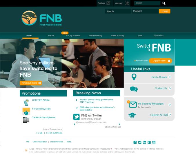 Complete FNB visual mockup