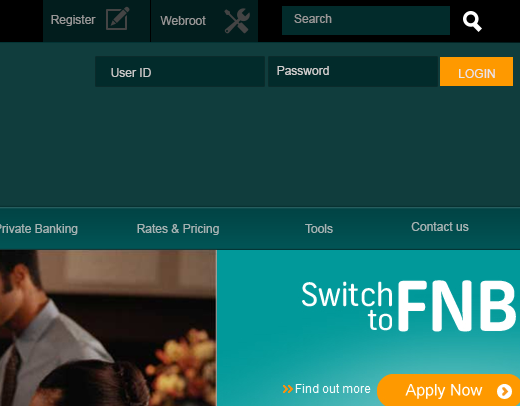 FNB draft site - Simplified header layout
