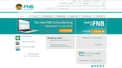 FNB old website